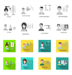 Hospital and healthcare vector
