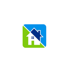 House icon colored logo vector