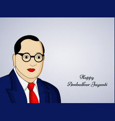 India dr b r ambedkar vector