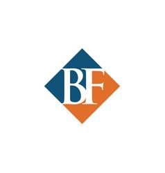 initial bf rhombus logo design vector image