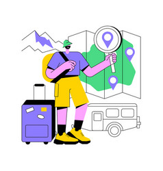 Inside country traveling abstract concept vector