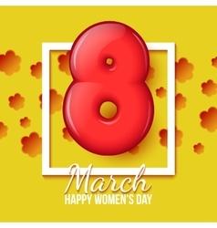 International Womens Day March 8 volume eight vector