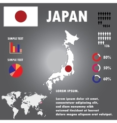 Japan Map Infographics vector image