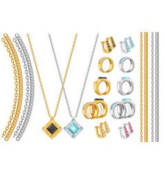 jewelry set vector image