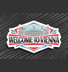 logo for vienna vector image