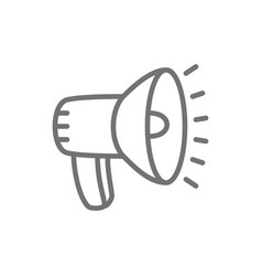 loudspeaker megaphone line icon vector image