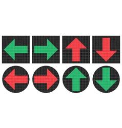 Pixel arrows icons vector image