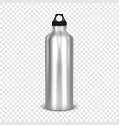 Realistic 3d empty glossy metal water vector