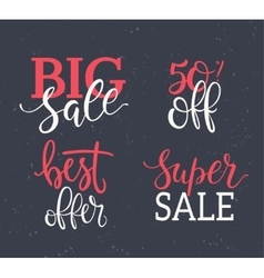 Sale Inscriptions set vector