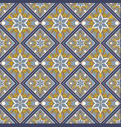 Seamless hand drawn mandala pattern vector