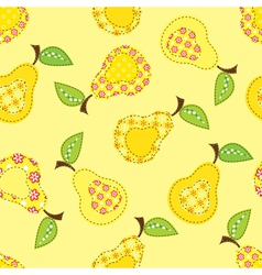 Seamless pattern with pears vector