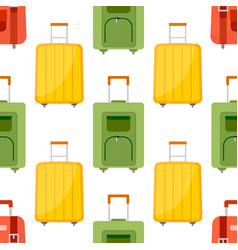 seamless pattern with travel bag vector image