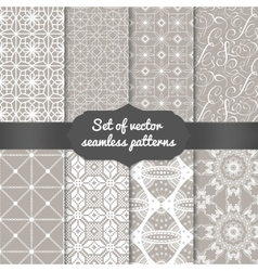 Set of abstract geometric pattern backgrounds vector