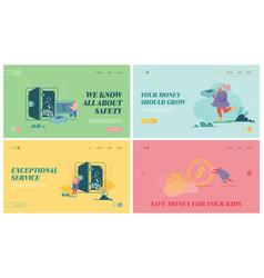 set website landing pages deposit box woman vector image