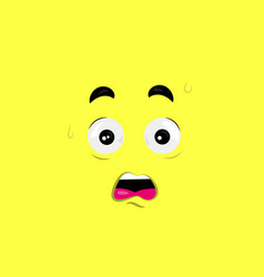 shocked face vector image