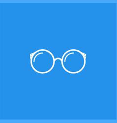 simple symbol glasses vector image