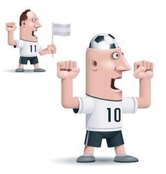 Soccer fan vector
