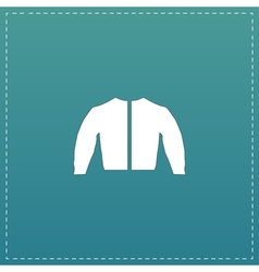 Sports jacket flat icon vector