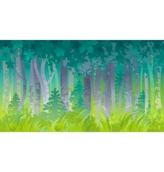 Spring summer forest landscape background Nature vector image