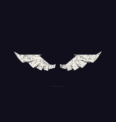 stock wings silhouette vector image