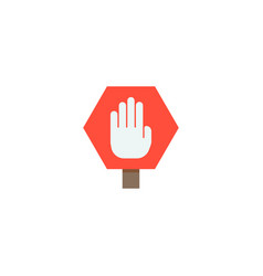 stop sign icon flat element vector image