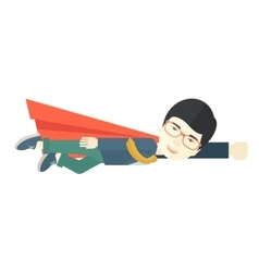 Superhero businessman vector