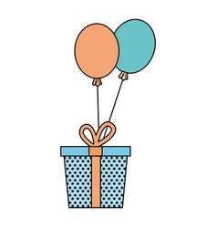 Surprise party gift vector
