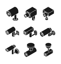 surveillance outdoor television camera security vector image