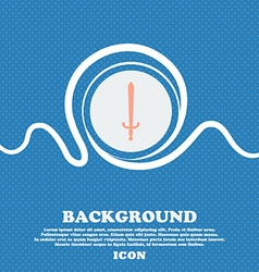 sword sign icon Blue and white abstract background vector image
