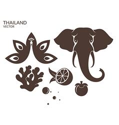 Thailand Animal Fruit vector