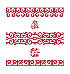 Traditional ornament of middle asia vector