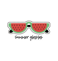 Watermelon glasses vector