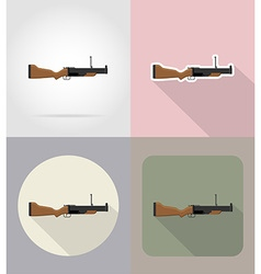 Weapon flat icons 10 vector