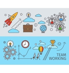 Working together in business concept vector image