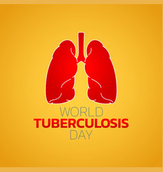 world tuberculosis day logo icon design vector image