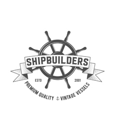 yacht club badge logo label vector image