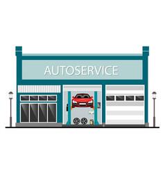 auto service center vector image
