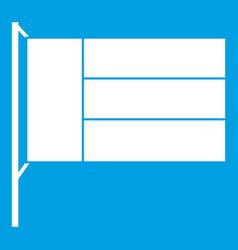 flag icon white vector image