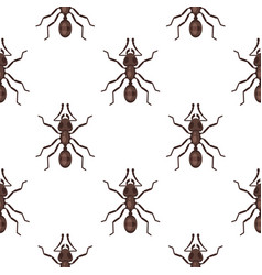 flat style seamless pattern with ants vector image vector image