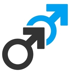 Gay Sex Flat Icon vector image