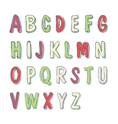 cute childish font vector image vector image