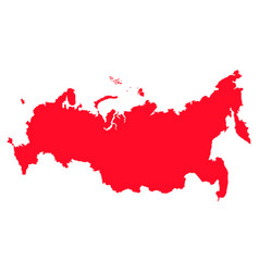 map of russia with a red filling image vector image vector image