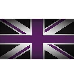 uk purple and black vector image vector image