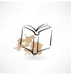 book grunge icon vector image vector image