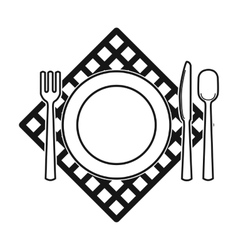 Picnic served table icon in black style isolated vector image vector image
