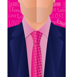 Valentines Day Suit and Tie vector image vector image