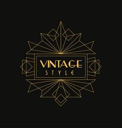 vintage style logo art deco design element in vector image