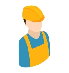 Worker isometric 3d icon vector image vector image