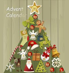 Advent calendar vector image