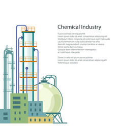 chemical plant isolated and text vector image vector image